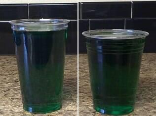 Copos diferentes, mesma quantidade de bebida