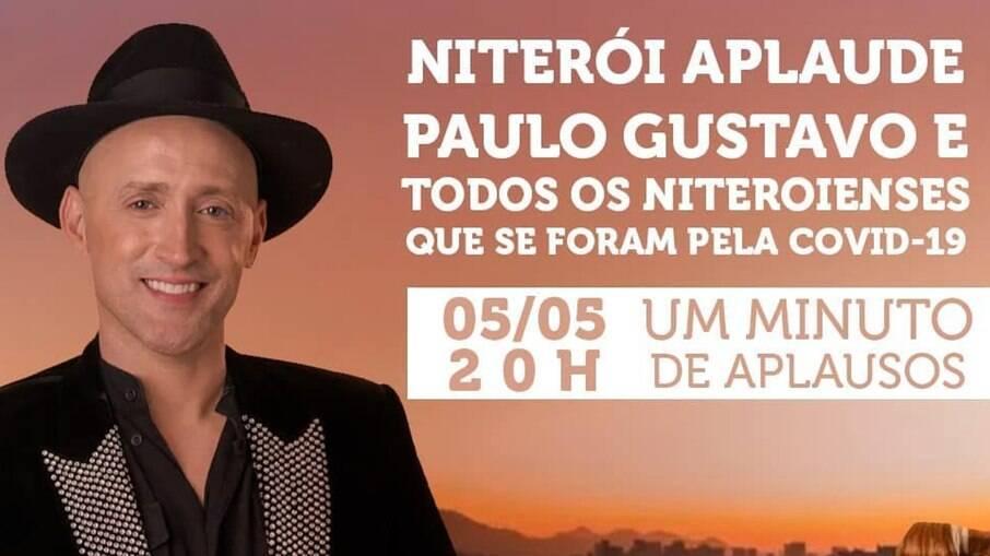 Cidade de Niterói, onde Paulo Gustavo nasceu, fará homenagem ao ator