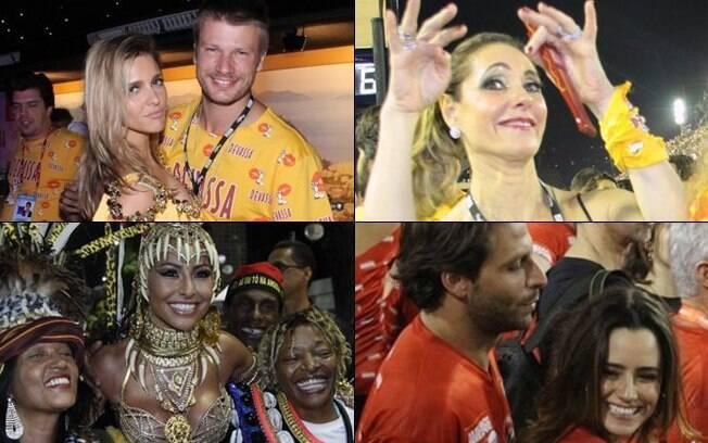 Famosos curtiram a folia do desfile das campeãs do Rio de Janeiro nesse sábado (25)