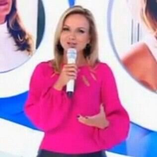 Eliana no palco de seu programa no SBT
