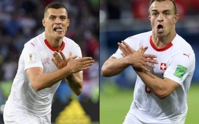 Fifa multa Xhaka e Shaqiri por comemoração pró-Kosovo