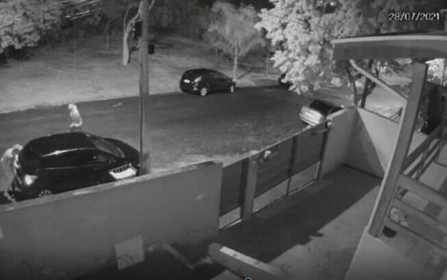 VÍDEO: Ladrões são flagrados furtando veículo em Valinhos