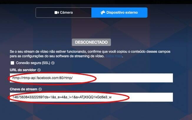 No Facebook, copie os códigos