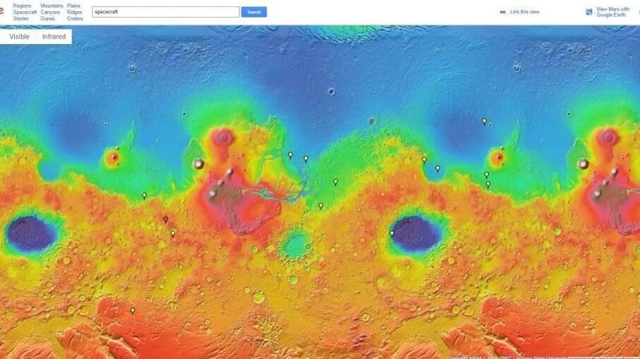 Saiba como explorar Marte através da plataforma Google Mars