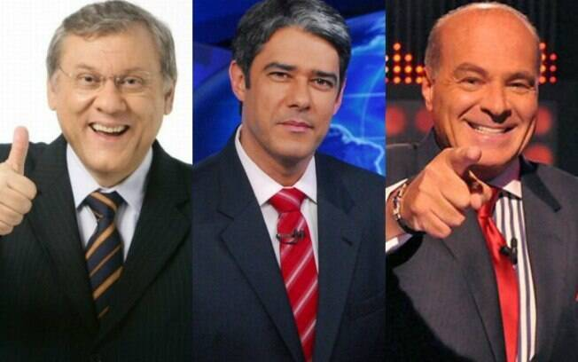 Milton Neves%2C William Bonner e Marcelo de Carvalho