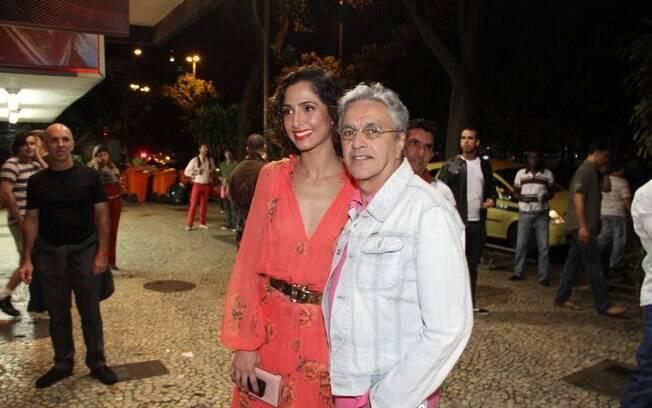 Camila Pitanga e Caetano Veloso