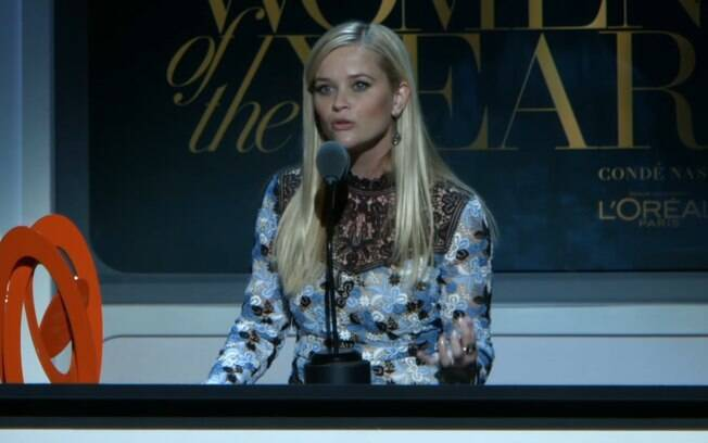 Discursos empoderados: Reese Whiterspoon falou sobre ambição feminina ao receber um prêmio por seu trabalho