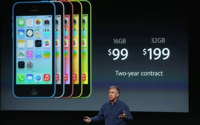 iPhone 5C custará a partir de US$   99 com contrato nos EUA