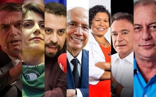 Candidatos à Presidência que já foram oficializados: Bolsonaro, D'Ávila, Boulos, Meirelles, Vera Lúcia, Álvaro Dias e Ciro