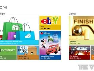 Interface da Windows Store é baseada no Windows 8