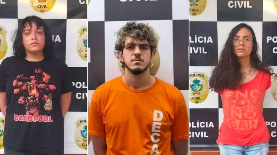 Enzo Jacomini, Jeferson Rodrigues e Raíssa Borges foram presos suspeitos de matar amiga