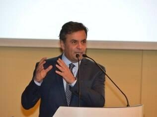 Encontro com candidatos à Presidência da República na CNI. O candidato à Presidência da República, Aécio Neves participa de encontro com empresários.