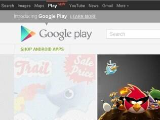 Google Play está presente na barra de ferramentas do Google