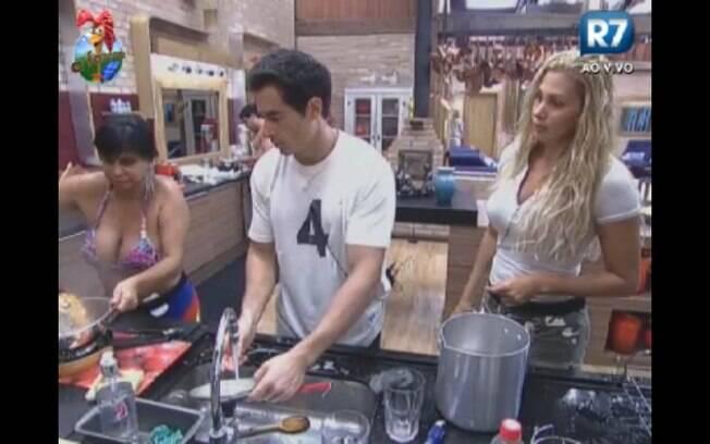 Gretchen na cozinha
