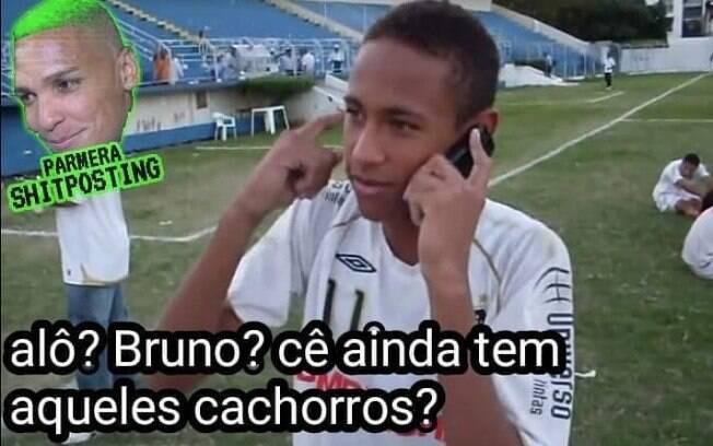 Meme compara o caso Neymar com o do goleiro Bruno