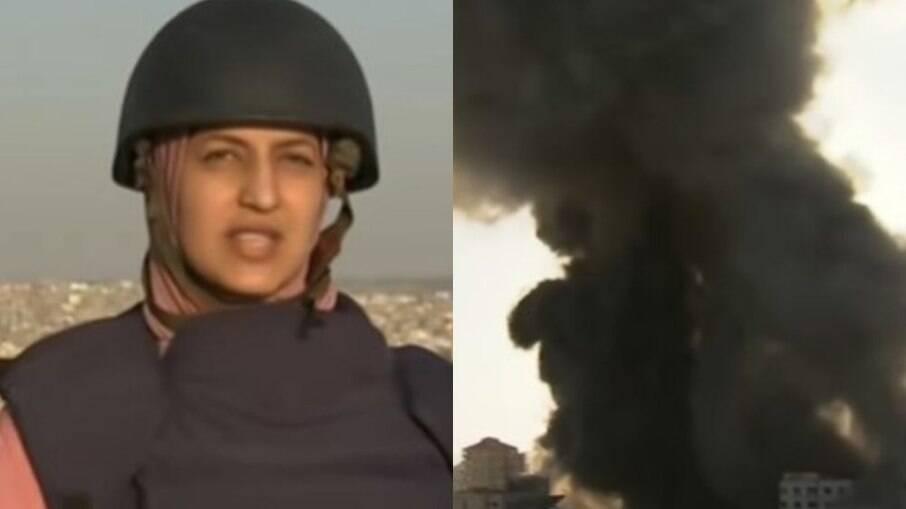 Repórter da Al Jazeera quase foi atingida por bombas