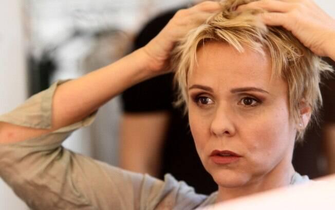 """Giulia Gam antes de entrar em cena no espetáculo """"Pedro e o Lobo"""