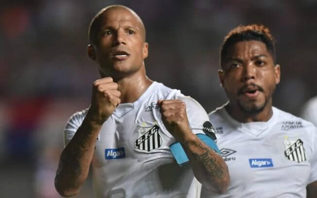 Sánchez fez o gol da vitória do Santos sobre o Bahia, fora de casa