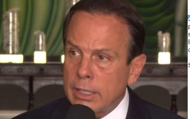 Governador João Doria em coletiva de imprensa nesta segunda-feira (16)