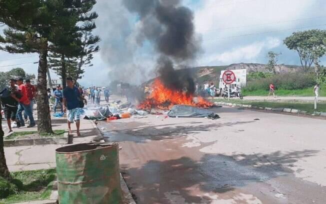 Reforço da Força Nacional foi enviado após ataque a acampamento de refugiados venezuelanos, no sábado