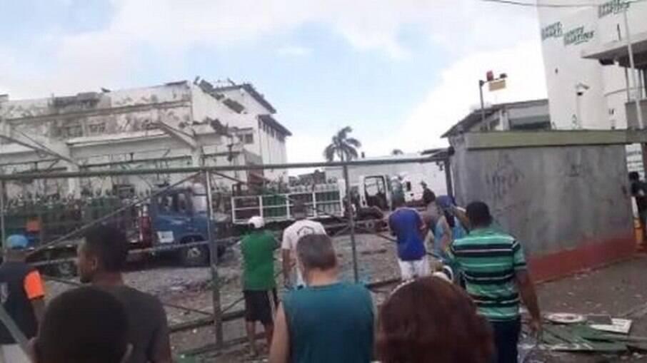 Parte da sede da empresa do oxigênio ficou destruída devido a explosão