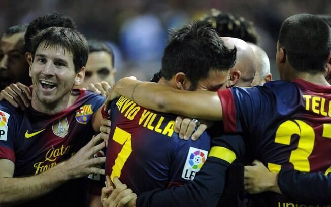 Contra o Sevilla, o time fez dois gols no fim  e virou. A vitória por 3 a 2 foi a sexta da equipe  em seis rodadas