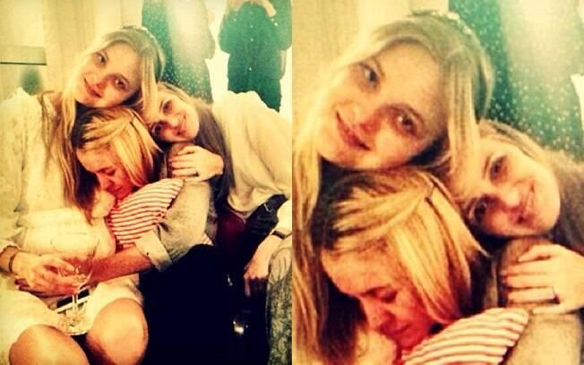 Carol Trentini e as irmãs Franciele e Elen