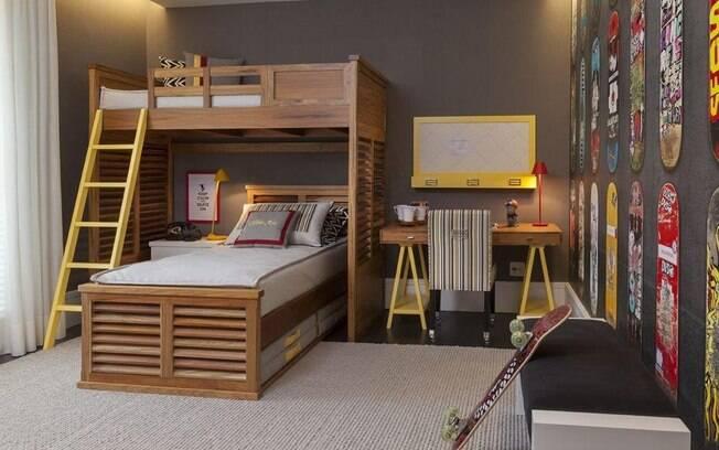 O posicionamento das camas foi o grande trunfo deste projeto, pois permitiu ganhar na sensação de amplitude