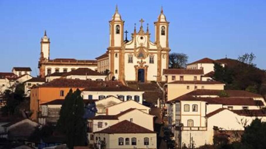 A Igreja São Francisco de Assis, em Ouro Preto, é uma obras de Aleijadinho