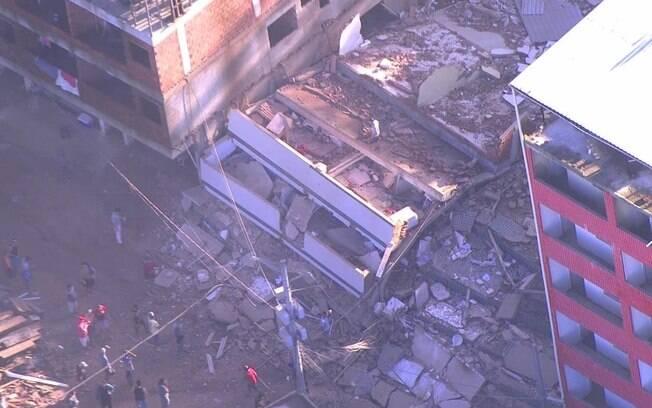 Wilson Witzel se manifestou sobre os dois edifícios que desabaram na zona oeste do Rio de Janeiro