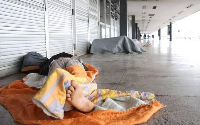 Morador de rua em São Paulo