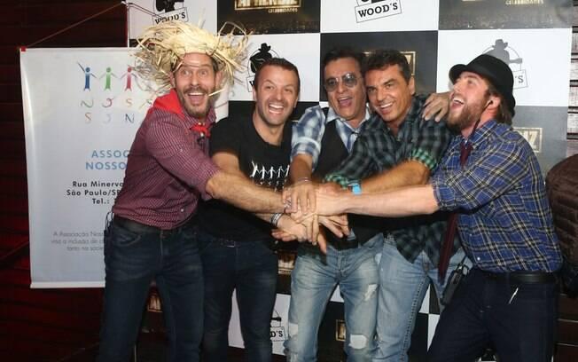Ex-participantes do reality Nico Puig, Nahim, Raul Boesel e Pedro Nercessian