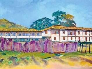 Magistrado. Após 30 anos sem expor, o desembargador José Marcos Vieira apresenta 20 quadros que remetem à Minas Gerais colonial