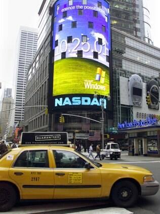 Lançamento do Windows XP, em 2001, aconteceu em um teatro da Time Square