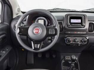 Interior do Fiat Mobi Way