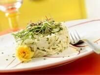 Foto da receita Risone com bacalhau pronta.