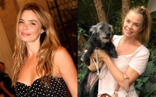 Alexia Dechamps loira e com sua paixão: cachorros