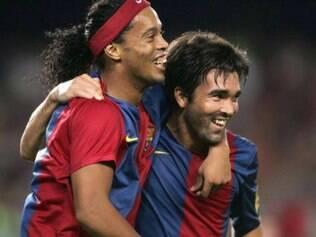 Ronaldinho e Deco, uma parceria que rendeu inúmeros frutos ao Barcelona