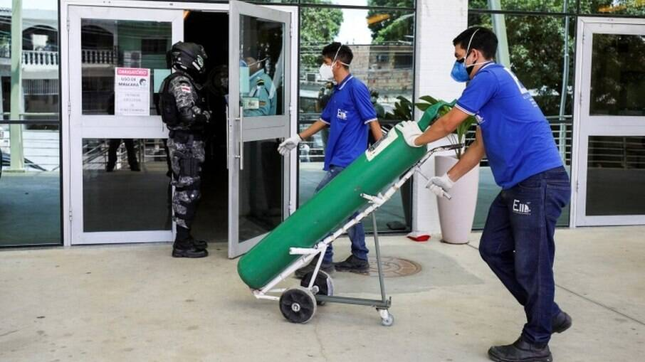 Unidades federativas unem esforços para conter a crise de abastecimento de oxigênio em Manaus, no Amazonas