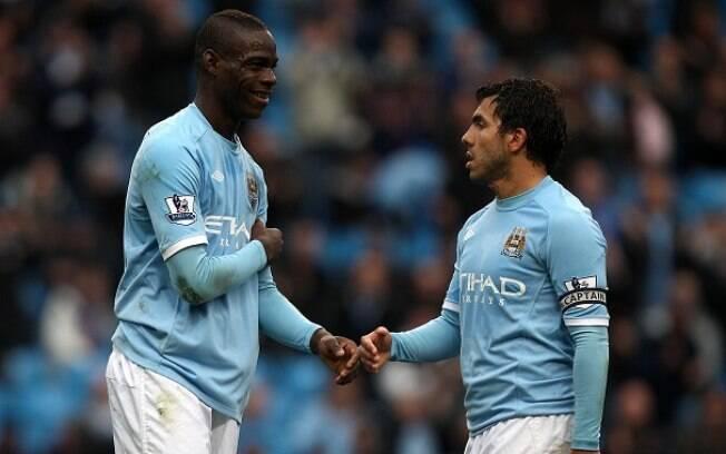Tevez e Balotelli jogaram juntos no Manchester City