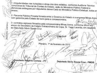 Requerimento da CPI do Mineirão possui 27 assinaturas