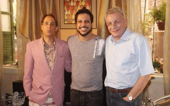 Pedro Cardoso, Lúcio Mauro Filho e Marco Nanini