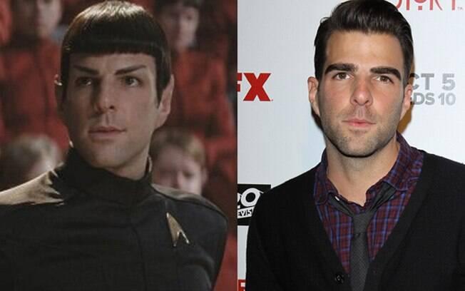 Zachary Quinto caracterizado como Dr. Spock em