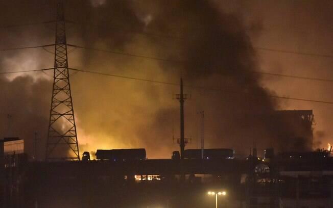 Explosões foram vistas do espaço na China (12/08). Foto: AP