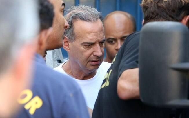 Empresário Adir Assad sendo transferido do Presídio Ary Franco para o Bangu 8, zona oeste do Rio