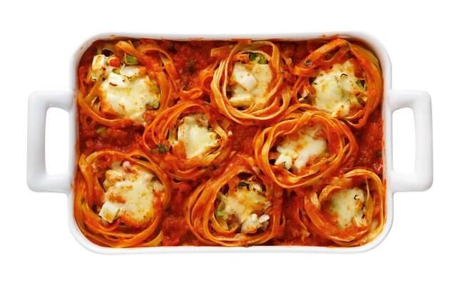 O macarrão tipo ninho é uma ótima escolha para o cozinheiro que quer um prato bem recheado