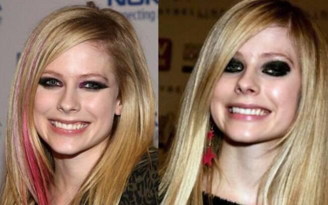 A cantora Avril Lavigne exibe o sorriso um pouco desalinhado desde a adolescência
