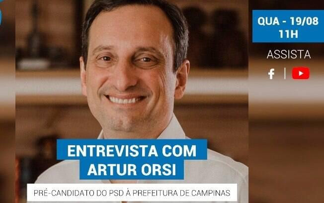 Artur Orsi é o entrevistado do iG desta quarta-feira (19).