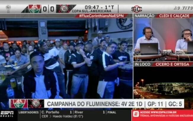 ESPN narrou o jogo entre Fluminense e Corinthians no formato