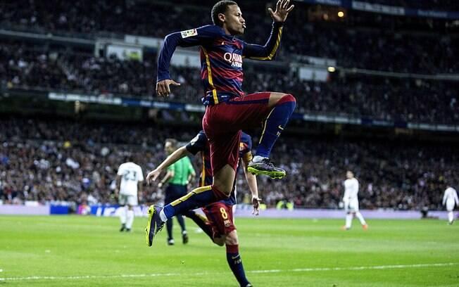 Neymar salta no Bernabéu: casa do Real foi dominada